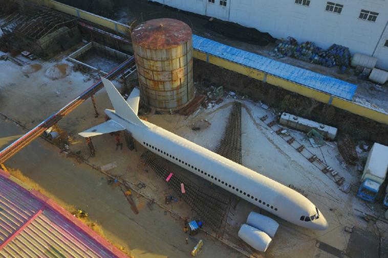 Mô hình máy bay A320 nhìn từ trên cao